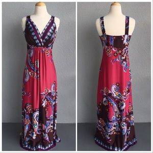 COVINGTON Pink Boho Stretchy Print Dress Size S